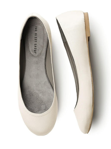 Dessy Simple Satin Ballet Flat