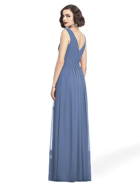 Dessy 2894 long chiffon bridesmaid dress