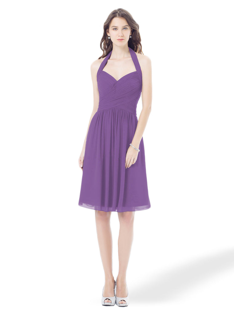 Bill Levkoff 398 Short Chiffon Bridesmaid Dress