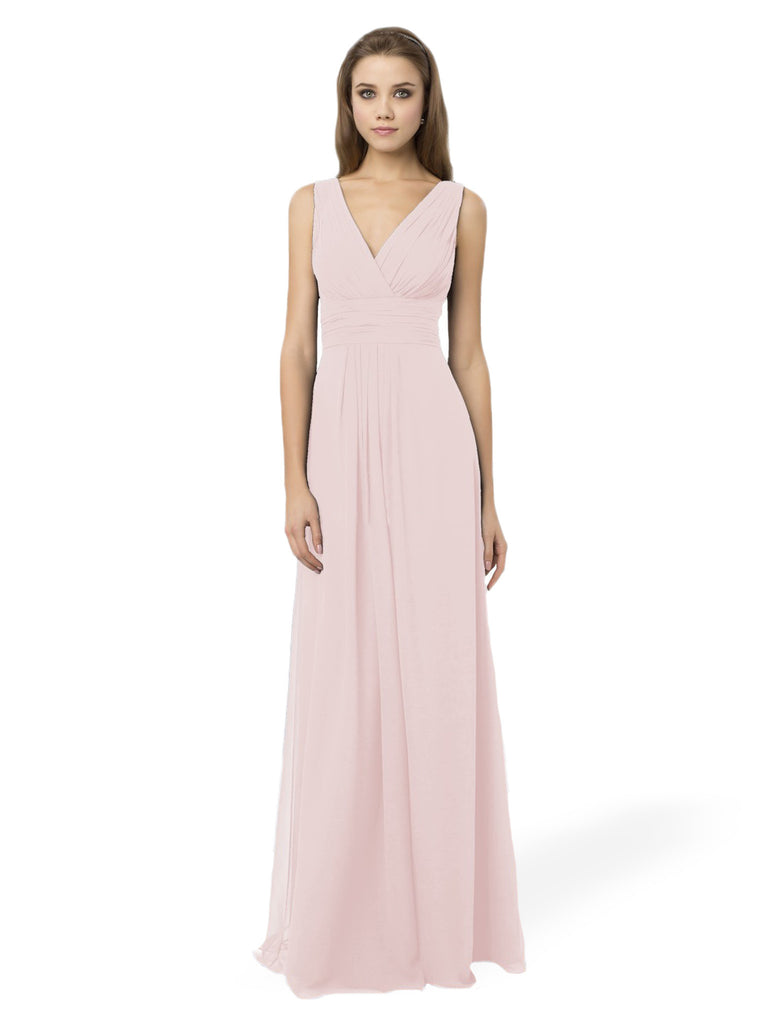 Bill Levkoff 768 Blush Bridesmaid Dress