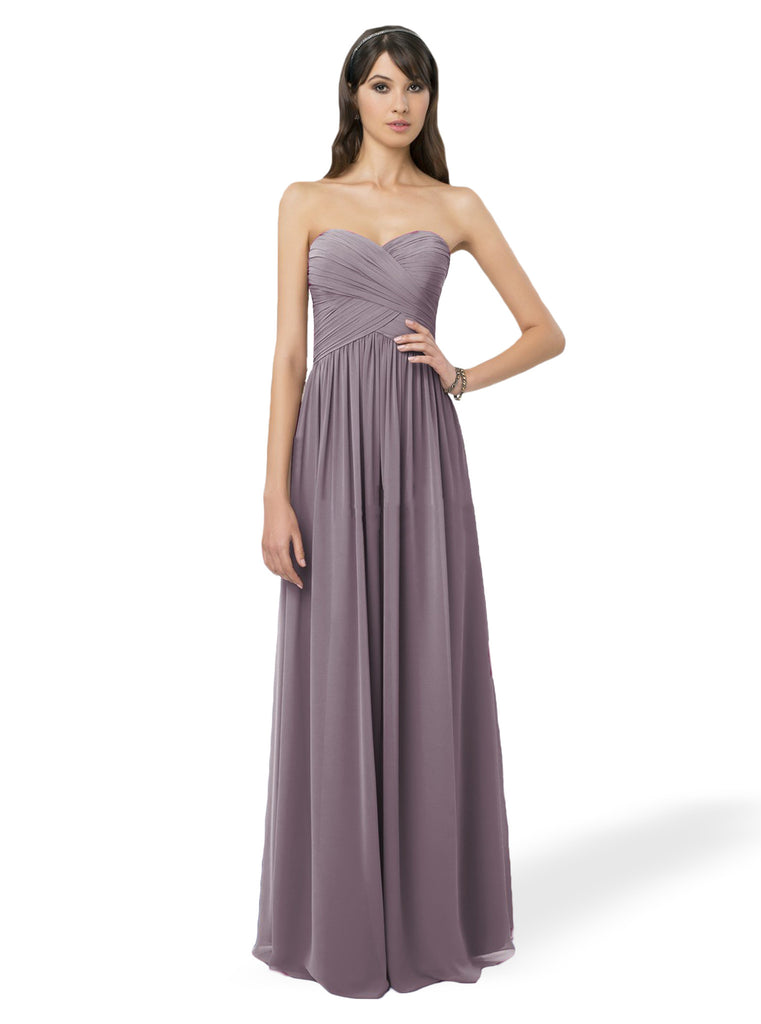 Bill Levkoff 778 Long Chiffon Bridesmaid Dress