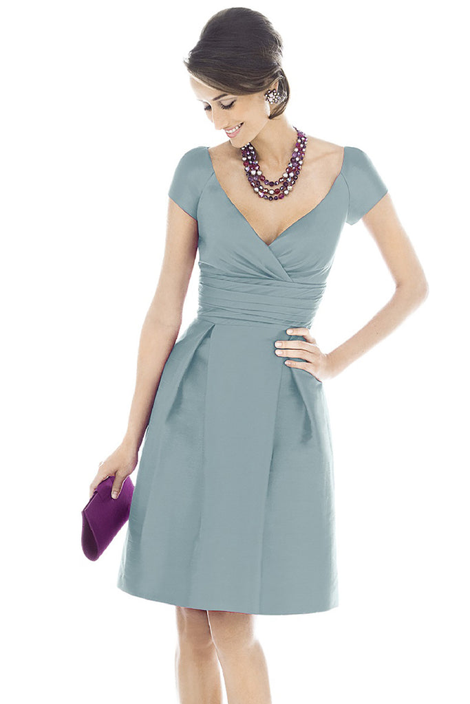Alfred Sung D500 V-Neck Bridesmaid Dress