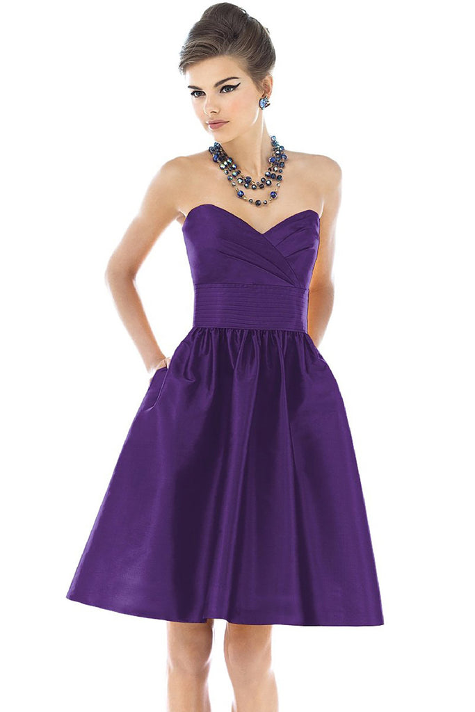 Alfred Sung D542 Strapless Bridesmaid Dress