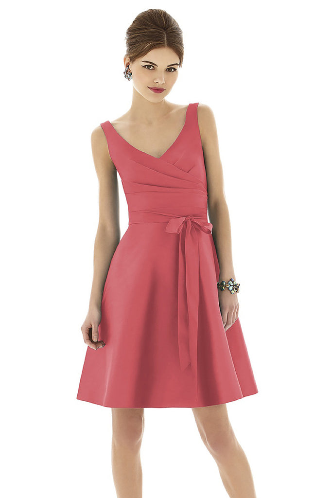 Alfred Sung D622 V-Neck Bridesmaid Dress