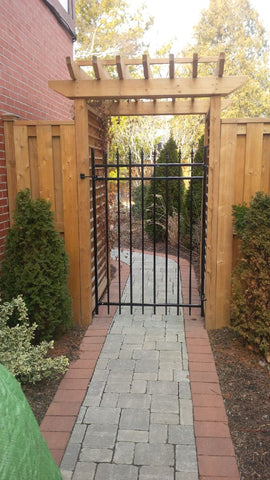 P. McConnell Contracting, Landscaping, Etobicoke, Toronto, MIssissauga, Fence, gate, Interlock, Patio, Backyard