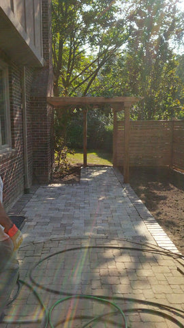 Etobicoke Landscaping, P. McConnell Contracting, Landscaping, Landscape Design, Patio, Interlock, Trellis