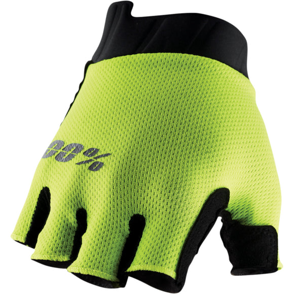 EXCEEDA GEL SHORT FINGER GLOVES FLUO YELLOW SM