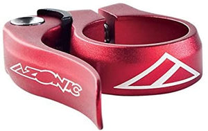 Q/R SEAT POST CLAMP RED 31.8