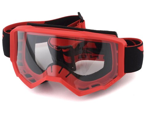 FLY RACING FOCUS GOGGLE RED W/CLEAR LENS