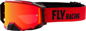 ZONE PRO GOGGLE RED/BLACK W/RED MIRROR /AMBER LENS W/POST