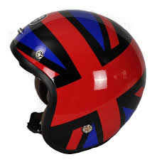 CASCO IMMORTALE 3/4 FLAG ROJO | SKU: YM629-BR