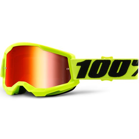STRATA 2 Goggle Yellow - Mirror Red Lens | SKU: 50421-251-04