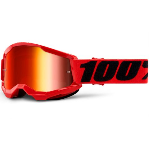 STRATA 2 Youth Goggle Red - Mirror Red Lens | SKU: 50521-251-03