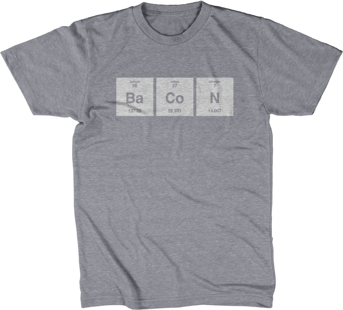 Bacon periodic table element t shirt noisebot bacon periodic table element t shirt gamestrikefo Gallery