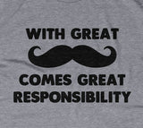 With Great Mustache Comes Great Responsibility Hoodie