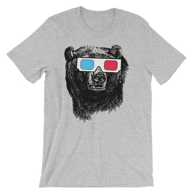 Bear 3D Glasses T-Shirt (Unisex)