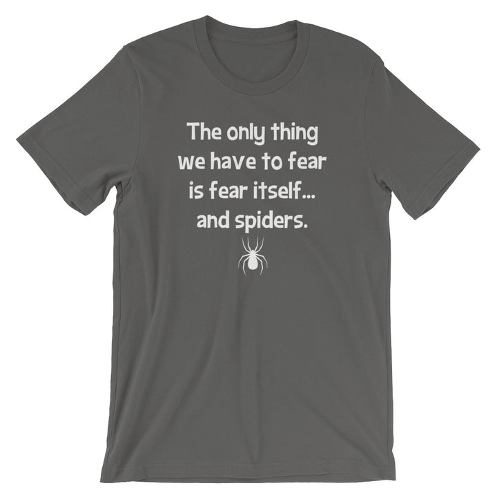 The Only Thing We Have To Fear Is Fear Itself (And Spiders) T-Shirt (Unisex)