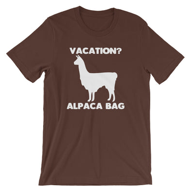 Vacation? Alpaca Bag T-Shirt (Unisex)
