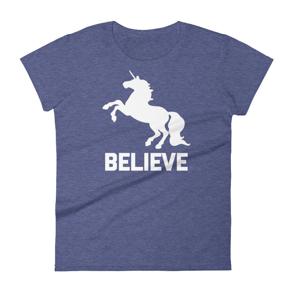 Believe (Unicorn) T-Shirt (Womens)