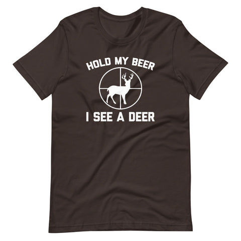 Hold My Beer, I See A Deer T-Shirt (Unisex)