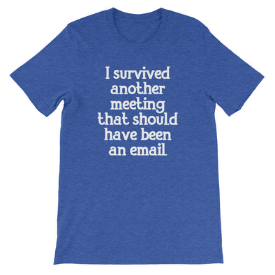 I Survived Another Meeting That Should Have Been An Email T-Shirt (Unisex)