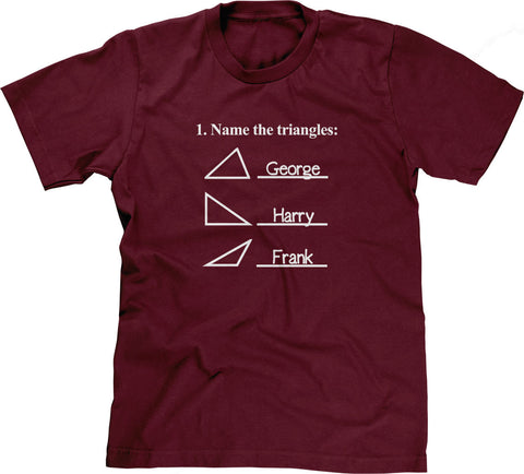 Name The Triangles (Math Problem) T-Shirt