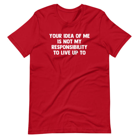 Your Idea Of Me Is Not My Responsibility To Live Up To T-Shirt (Unisex)