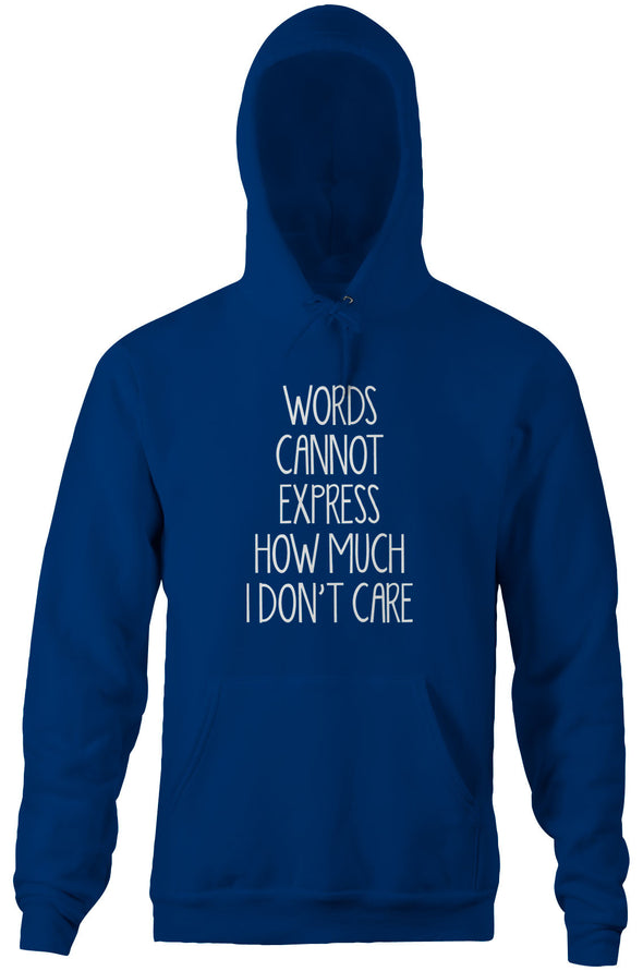 Words Cannot Express How Much I Don't Care Hoodie