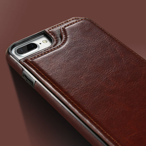Ultra slim leather case for iPhone