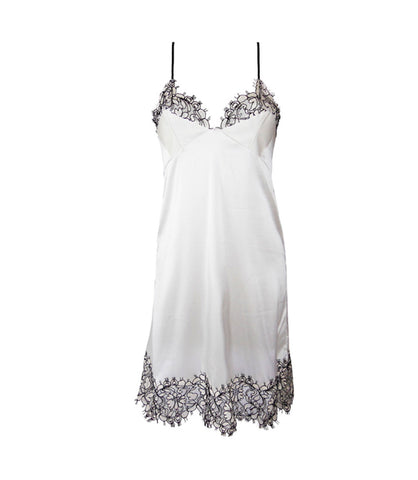 Lysander Slip Dress- Monochrome White