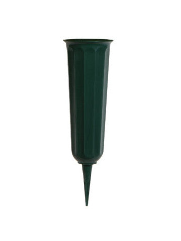 "11"" Multi-Purpose Plastic Green Vase"