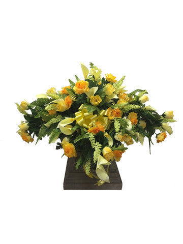 Yellow Rose and Calla Lily Saddle