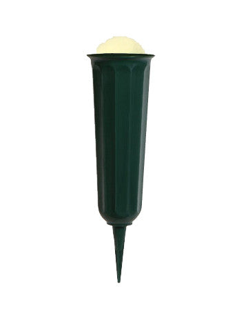"11"" Foam Filled Multi-Purpose Plastic Green Vase"
