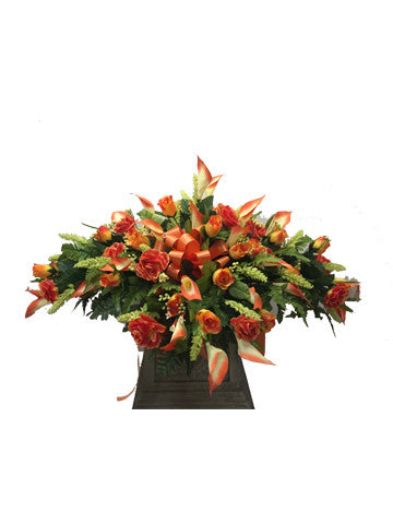 Orange Rose and Calla Lily Saddle