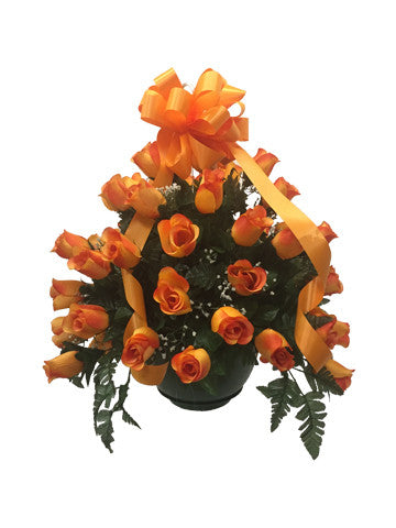 Premium Orange Rose Basket