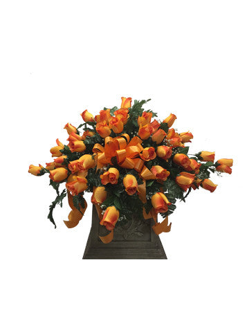 Premium Orange Rose Saddle