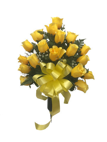 Premium Yellow Rose Vase