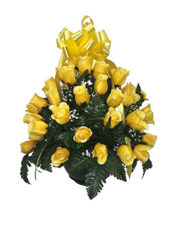 Premium Yellow Rose Basket