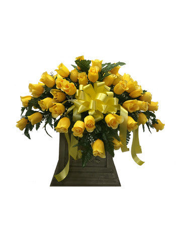 Premium Yellow Rose Saddle
