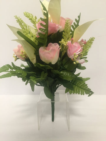 Light Pink Rose and Calla Lily Mixed Bush
