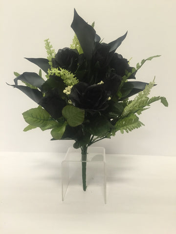 Black Rose and Calla Lily Mixed Bush