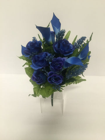 Blue Rose and Calla Lily Mixed Bush