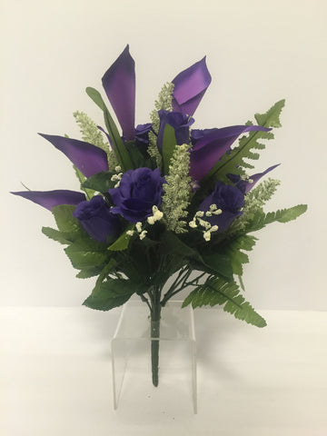 Purple Rose and Calla Lily Mixed Bush