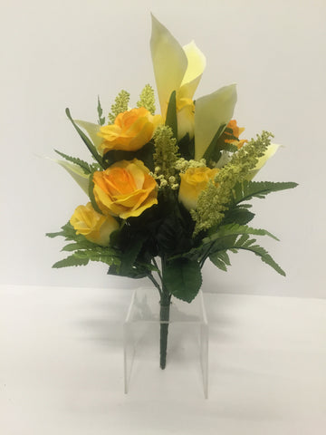 Yellow Rose and Calla Lily Mixed Bush