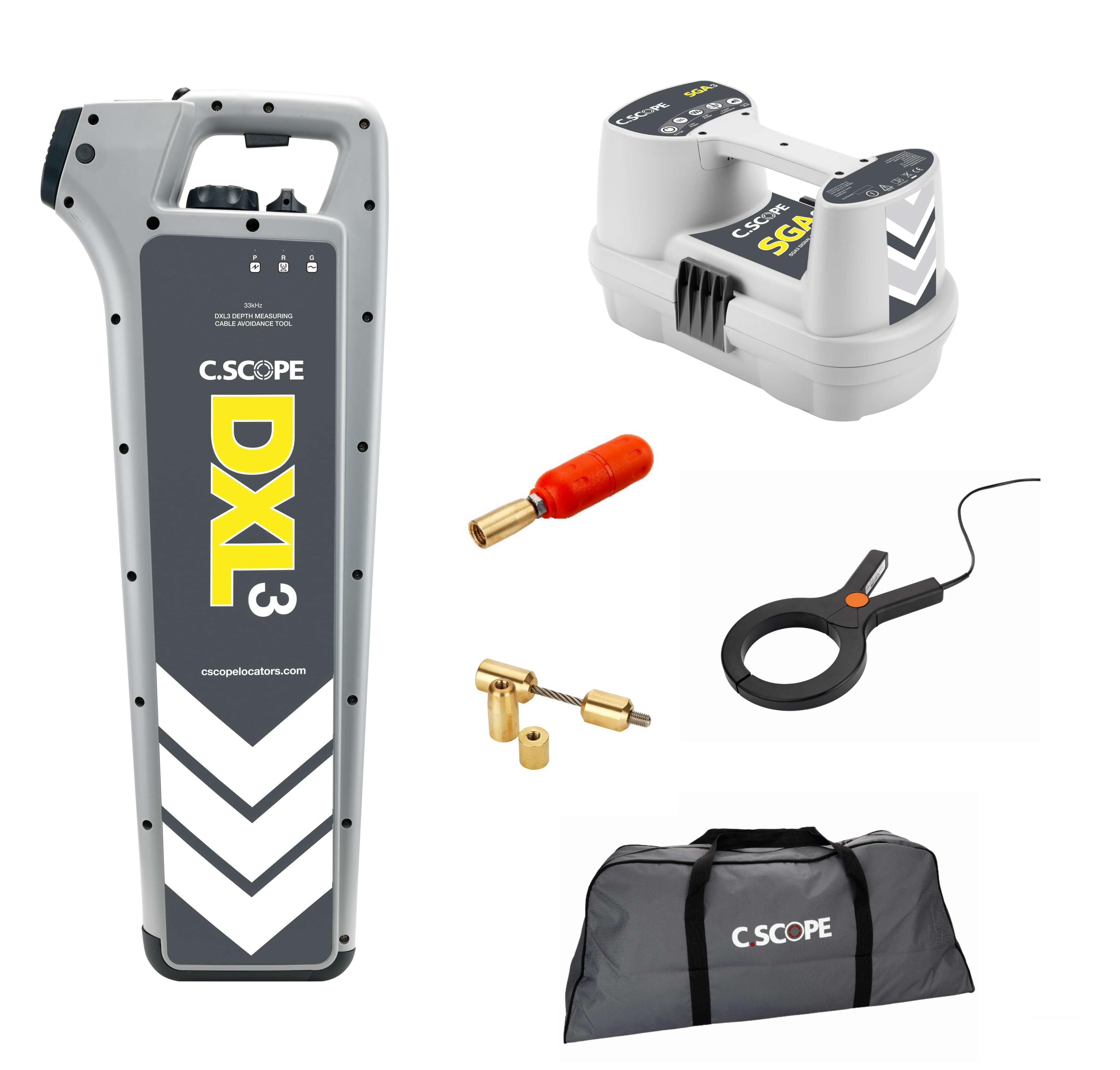 Great Value C.Scope DXL3 Cable Avoidance Tool Kit - comprises of DXL3 Depth Enabled Cable Detector bundled with popular accessories