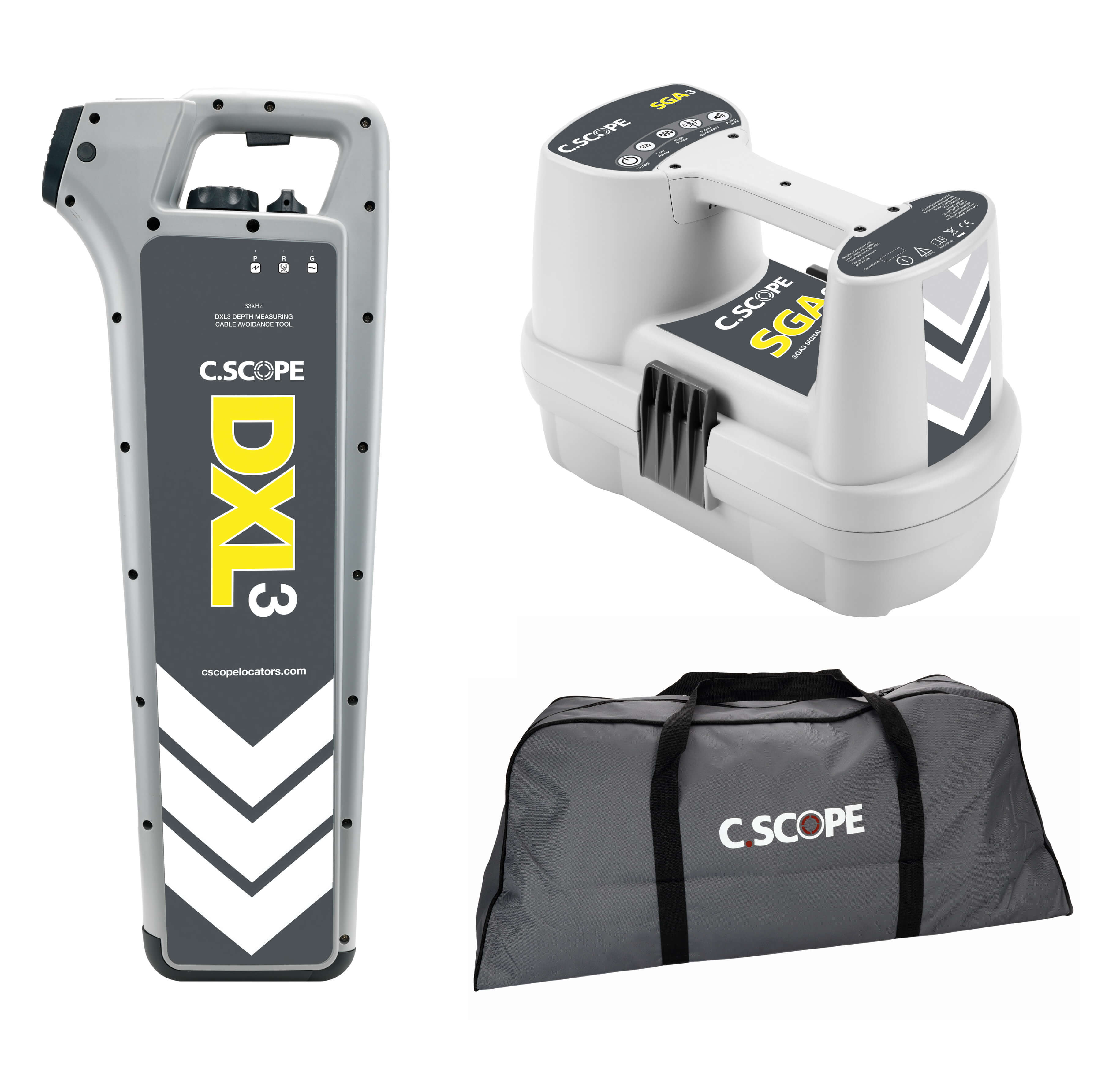 Great Value C.Scope DXL3 Cable Detector Kit - comprises of DXL3 Depth Enabled Cable Detector, SGA3 Signal Generator and soft carry bag