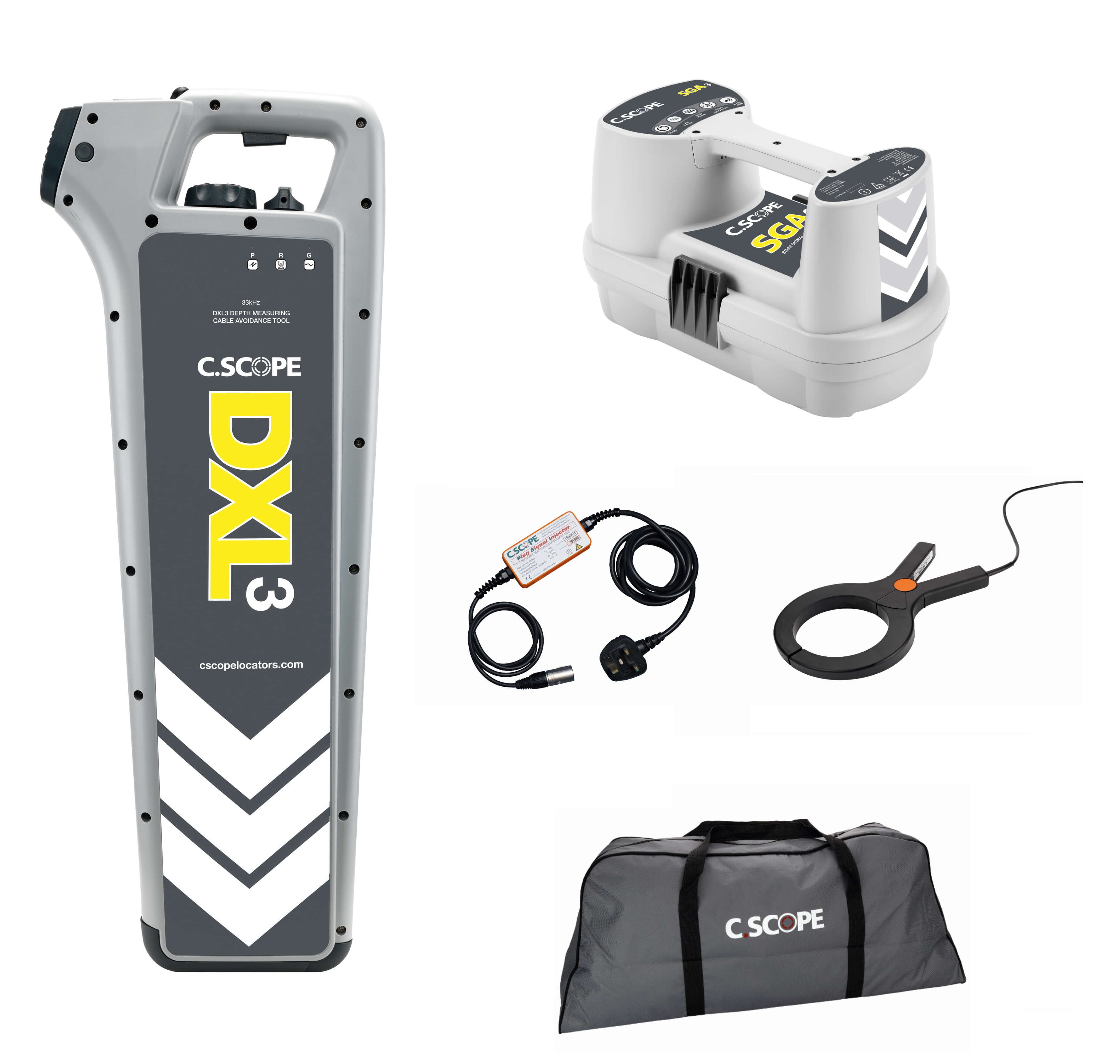 C.Scope DXL3 Top Value Electricians Kit with SGA3 Signal Generator and Soft bag - Cable Detector Calibration & Sales