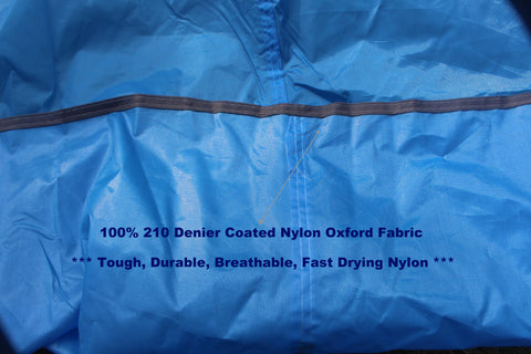 made of 100 percent 210 denier coated nylon oxford fabric this is a blanket that dries up fast and easily shakes free of sand dirt or other grit