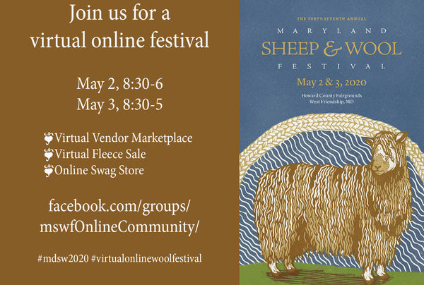 Maryland Sheep & Wool goes virtual and we will be there!