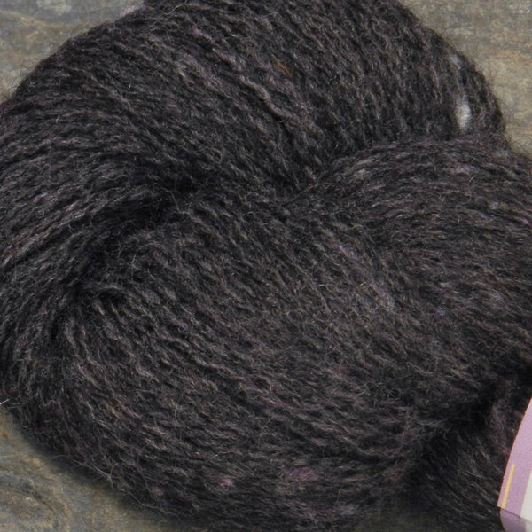 Alpaca Merino Yarn Skeins black gray with greens & blues